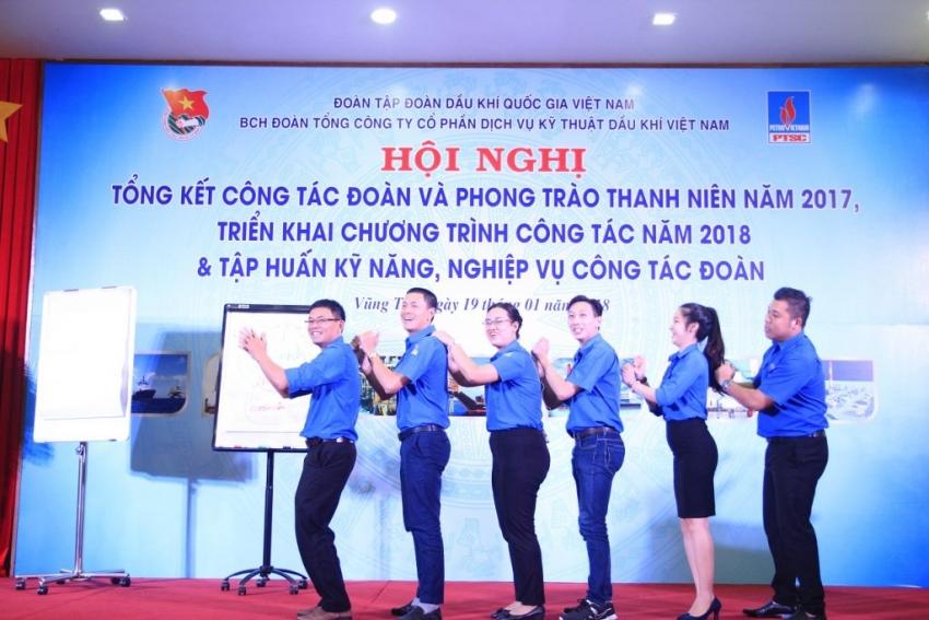 doan thanh nien ptsc trien khai chuong trinh cong tac nam 2018