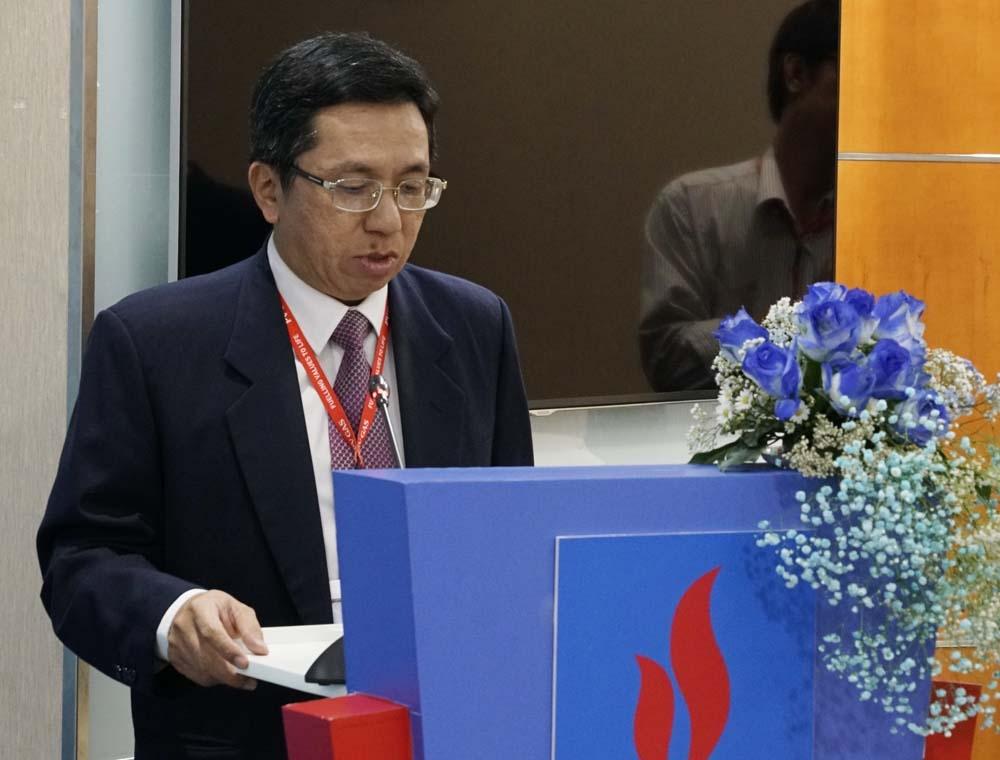 Ông Phan Quốc Nghĩa – Thành viên Hội đồng quản trị của PV GAS phát biểu tại buổi lễ