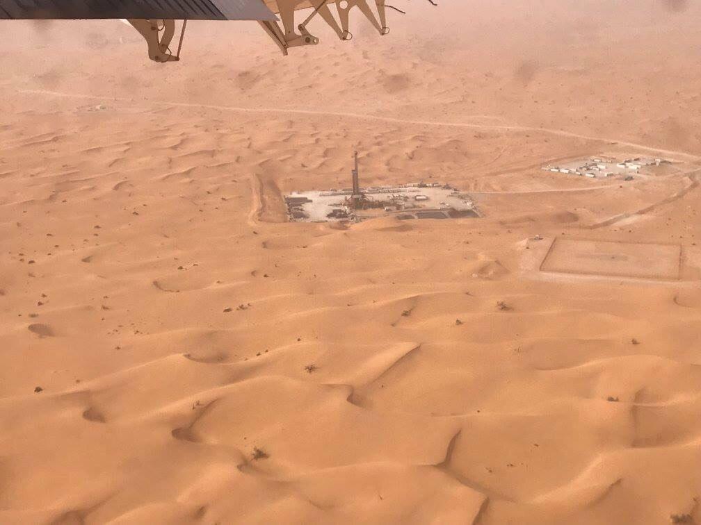 Đại bản doanh của PV Drilling trên sa mạc Sahara khi thực hiện chiến dịch khoan ở Algeria