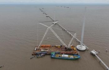 Tuổi trẻ PVShipyard phát huy tinh thần trách nhiệm trên công trường Dự án Điện gió Đông Hải I