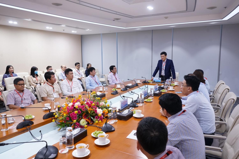 Tổng Giám đốc PV GAS Dương Mạnh Sơn phát biểu tại buổi Lễ