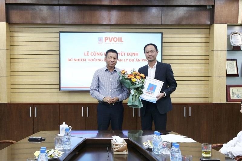 Ông Đoàn Văn Nhuộm trao Quyết định bổ nhiệm ông Nguyễn Duy Long