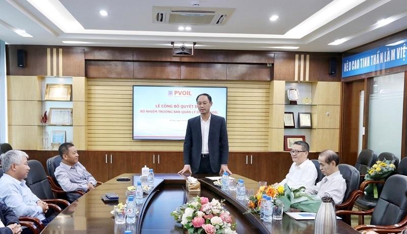 Ông Nguyễn Duy Long phát biểu nhận nhiệm vụ  PVOIL News