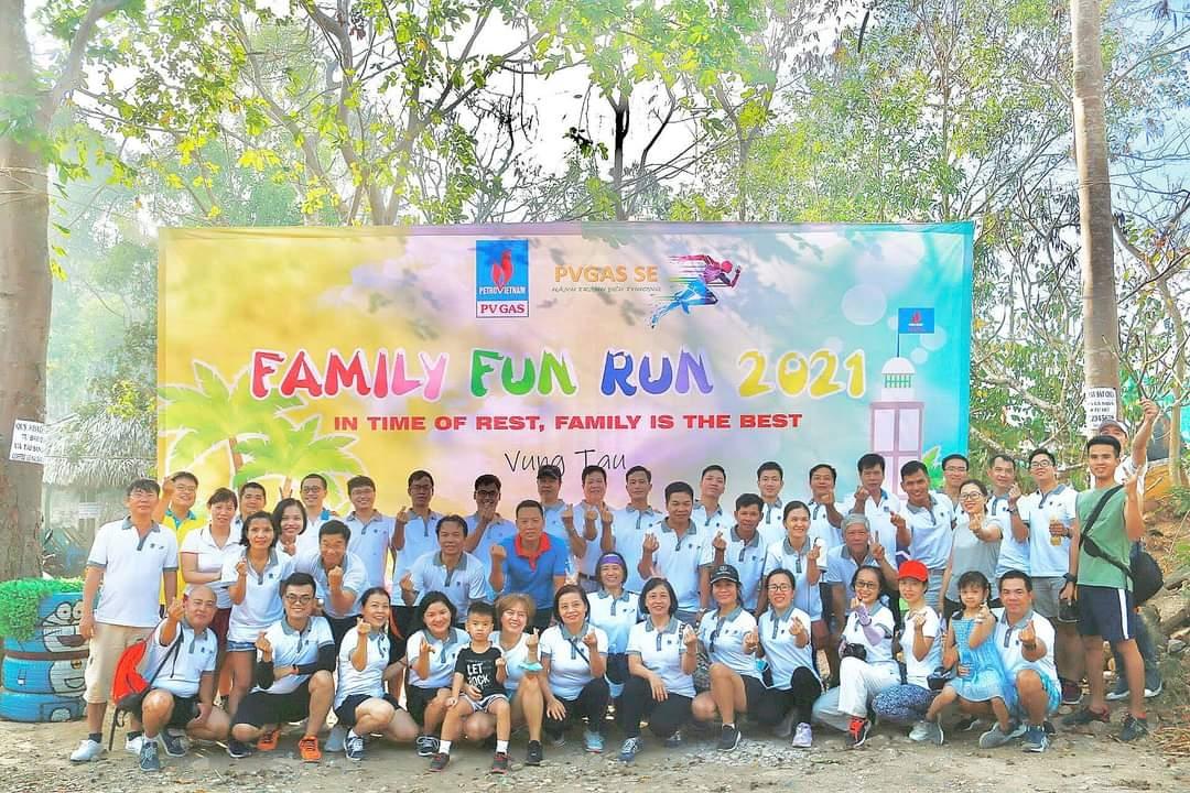 """chương trình đi bộ rèn luyện sức khỏe và gắn kết gia đình mang tên """"FAMILY FUN RUN 2021"""""""