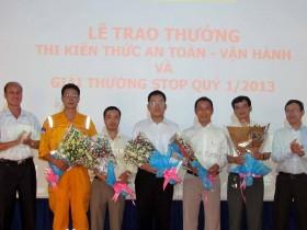 KVT trao giải thưởng cuộc thi an toàn vận hành