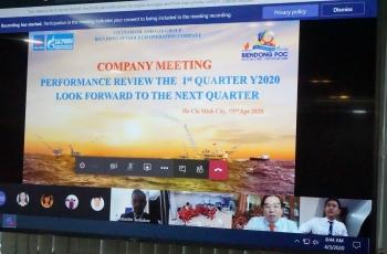 BIENDONG POC tổ chức thành công Hội nghị trực tuyến tổng kết công tác quý I/2020 qua Hệ thống Office 365