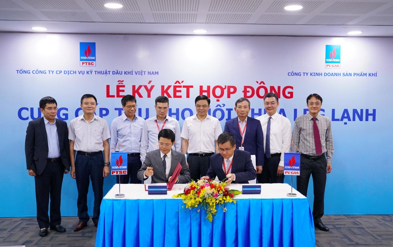 ghi thức ký kết Hợp đồng cung cấp tàu kho nổi chứa LPG lạnh tại khu vực phía Bắc