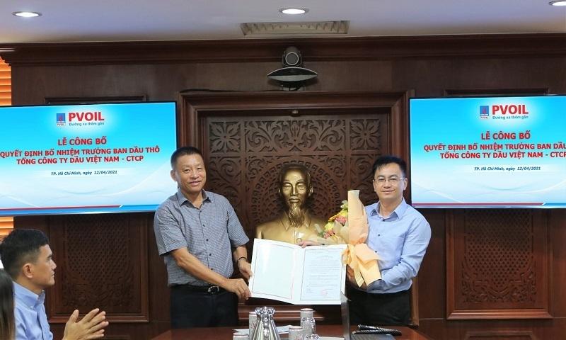 Ông Đoàn Văn Nhuộm trao Quyết định bổ nhiệm ông Nguyễn Dương Quang