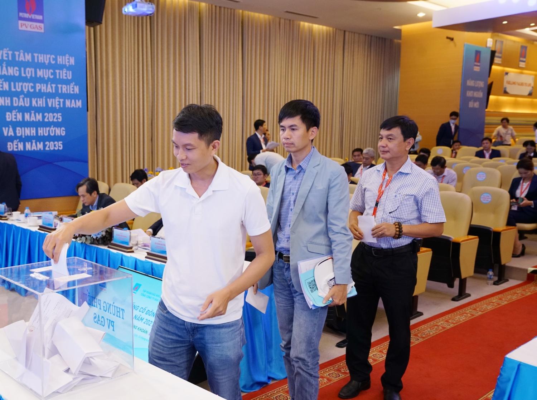 Các cổ đông thực hiện quyền bầu cử tại Đại hội