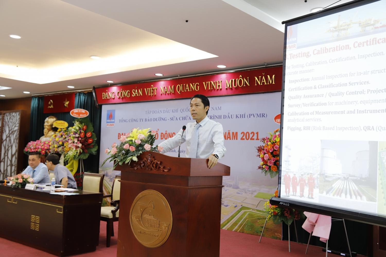 Tổng Giám đốc PVMR Mai Ngọc Khoa báo cáo hoạt động SXKD