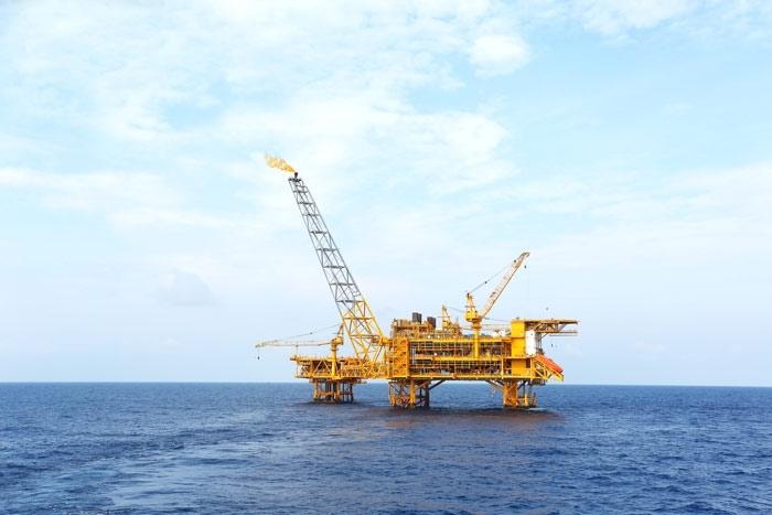 Cụm giàn PQP - HT 1 tại Dự án Biển Đông 01 (ảnh: Hiền Anh)