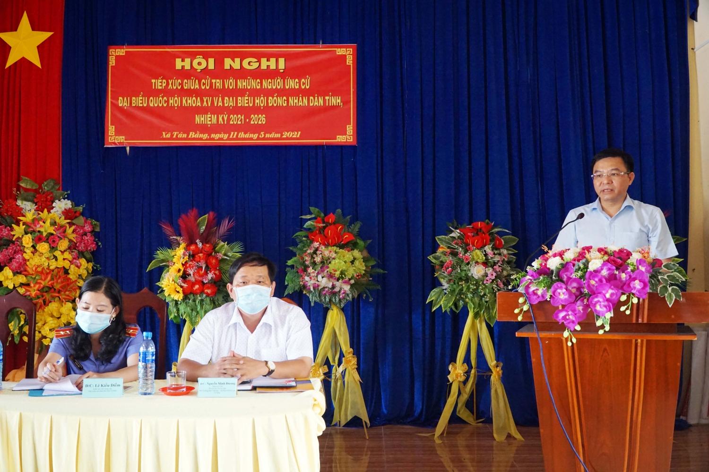 Đồng chí Lê Mạnh Hùng trình bày Chương trình hành động