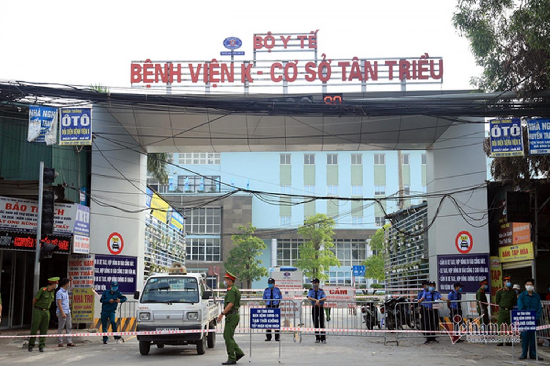 Đến cuối tháng 5/2021, Bệnh viện K cơ sở Tân Triều vẫn tiếp tục thực hiện cách ly y tế
