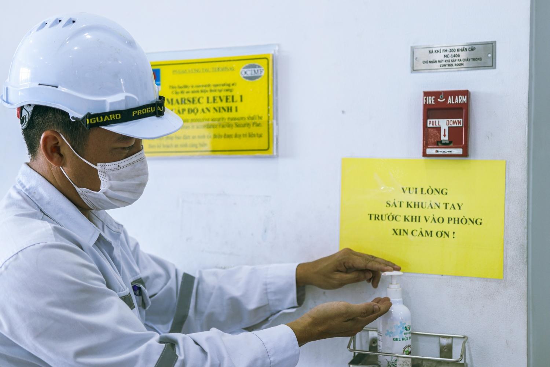Tất cả các cơ sở sản xuất, kinh doanh của PV GAS đều trang bị đầy đủ các phương tiện phòng chống dịch cho NLĐ