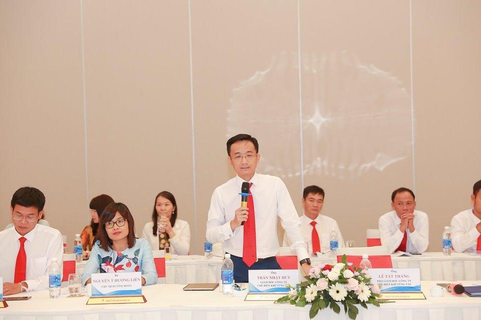 Ông Trần Nhật Huy - Giám đốc KVT trao đổi tại Hội nghị