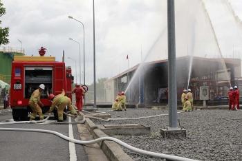 NT2 diễn tập chữa cháy và ứng phó sự cố tràn dầu năm 2019