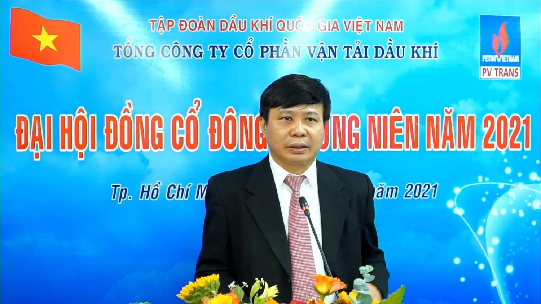 Tổng Giám đốc PVTrans Phạm Việt Anh báo cáo hoạt động SXKD