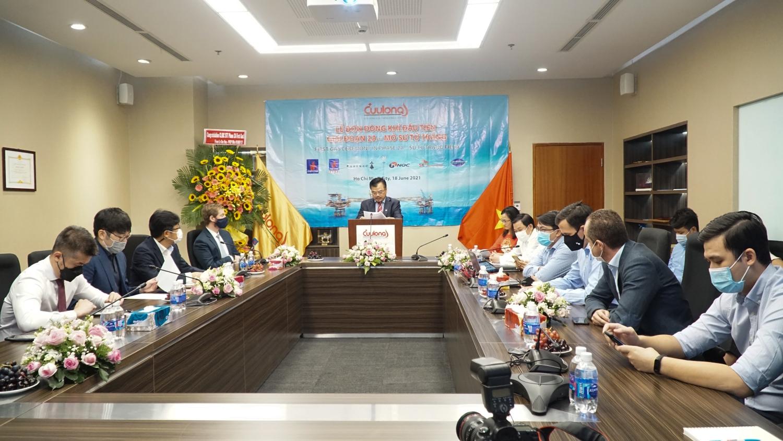 Petrovietnam tổ chức Lễ đón nhận dòng khí đầu tiên tại mỏ Sử Tử Trắng, Giai đoạn 2A