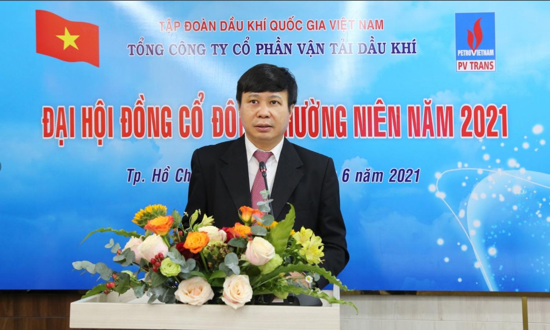 Lãnh đạo PVTrans báo cáo tại ĐHĐCĐ thường niên năm 2021