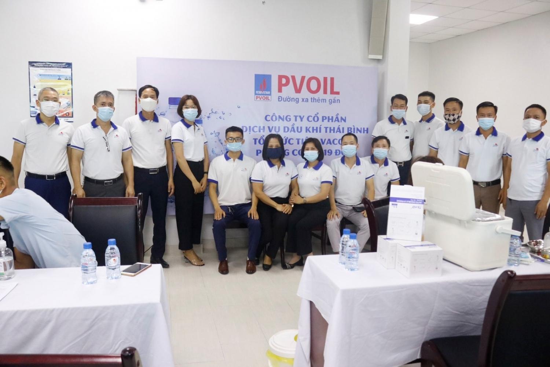 Công ty Thái Bình PSC tổ chức tiêm vắc xin phòng Covid-19 cho CBCNV
