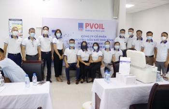 Gần 1.000 người lao động PVOIL được tiêm vắc xin phòng Covid-19