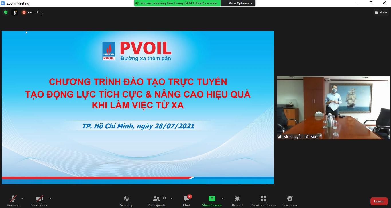 Ông Nguyễn Hải Nam – Trưởng ban TCNS phát biểu khai mạc lớp học