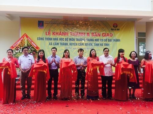 Đạm Cà Mau tài trợ 5 tỷ đồng cho Trường THCS tại Hà Tĩnh