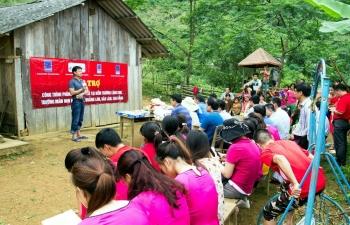 Các đơn vị của PVN ủng hộ xây dựng điểm trường Lũng Kim, Cao Bằng