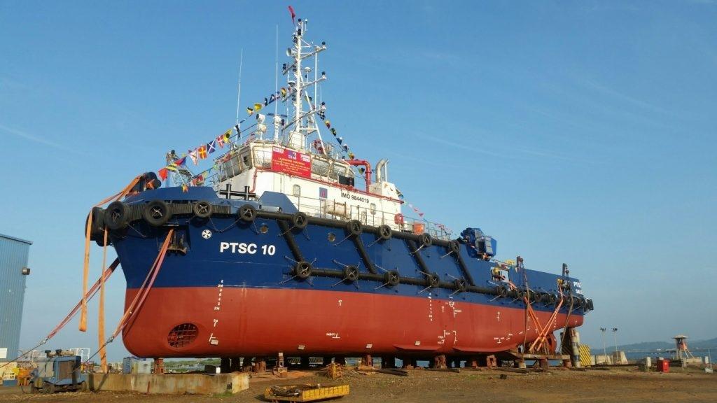 Hạ thủy tàu PTSC 10 và bàn giao tàu PTSC 09