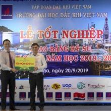 Đạm Cà Mau trao học bổng 100 triệu đồng cho sinh viên Trường Đại học Dầu khí Việt Nam