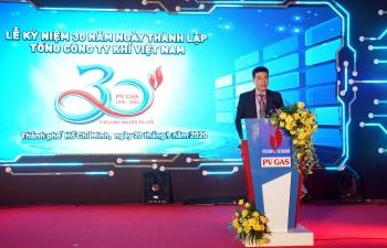 Tổng giám đốc PV GAS Dương Mạnh Sơn chào mừng và kêu gọi tinh thần người lao động