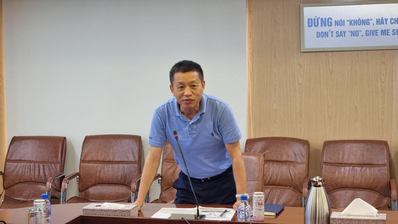 Đồng chí Đoàn Văn Nhuộm – Tổng Giám đốc PVOIL phát biểu tại Hội nghị