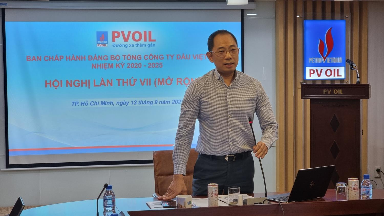 Đồng chí Cao Hoài Dương – Bí thư Đảng ủy, Chủ tịch HĐQT PVOIL chủ trì Hội nghị