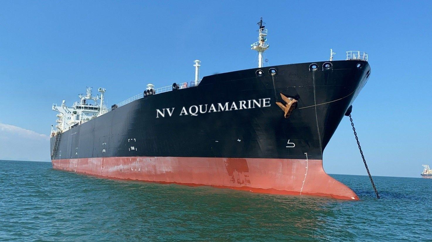đã tổ chức tiếp nhận thành công đầu tư chở khí hóa lỏng lạnh loại VLGC đầu tiên của PVTrans – Tàu NV Aquamarine.