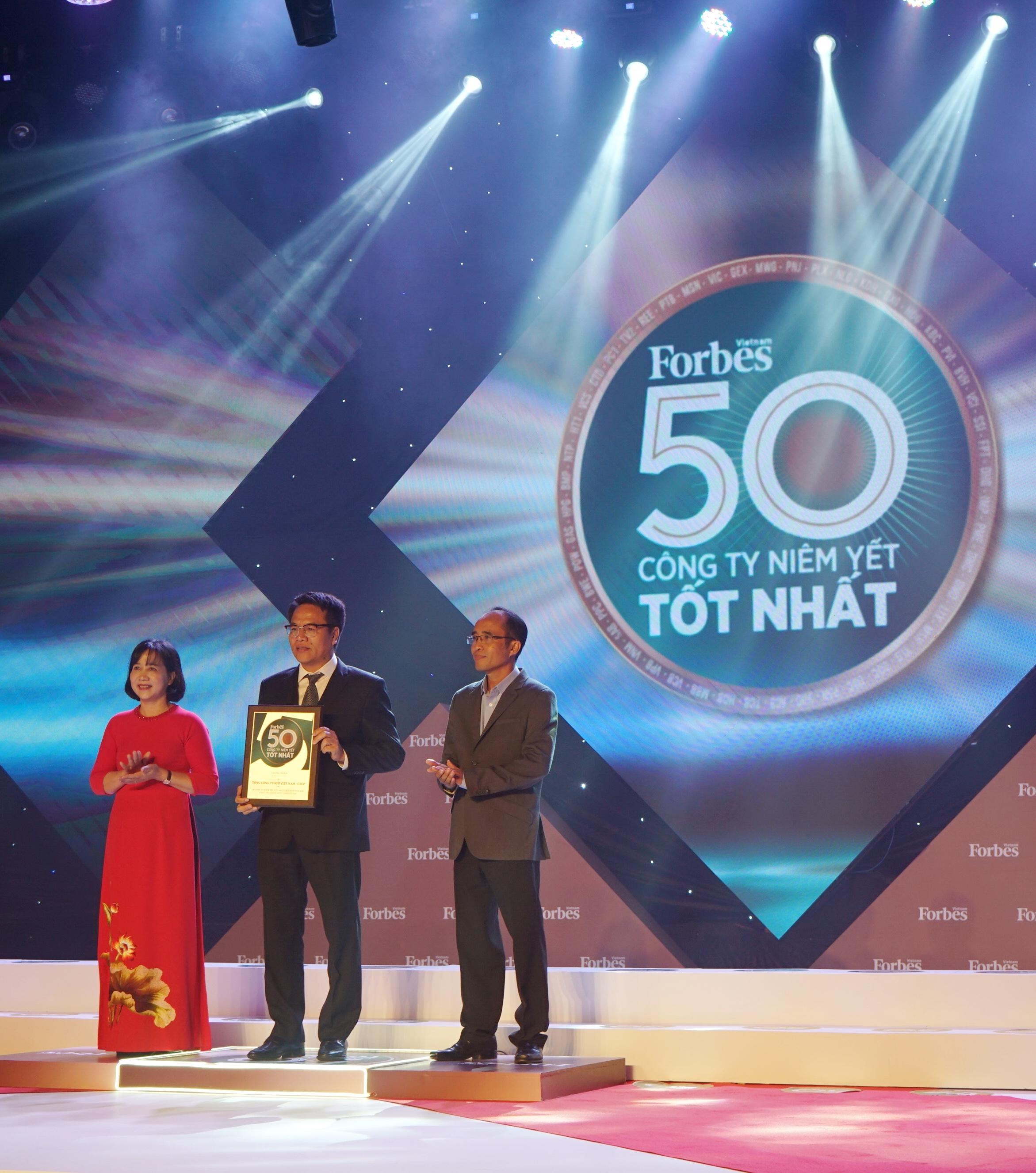 pv gas lan thu 8 lien tiep nhan vinh danh cua forbes top 50 cong ty niem yet tot nhat viet nam nam 2019