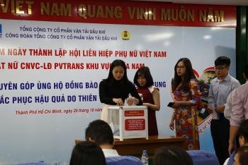 PVTrans chào mừng ngày Phụ nữ Việt Nam và phát động ủng hộ đồng bào miền Trung