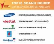 Petrovietnam tiếp tục góp mặt trong Top 5 Doanh nghiệp lợi nhuận tốt nhất Việt Nam năm 2021
