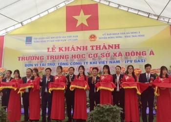 PV GAS tài trợ hơn 8 tỷ đồng xây dựng Trường THCS Đông Á, Thái Bình