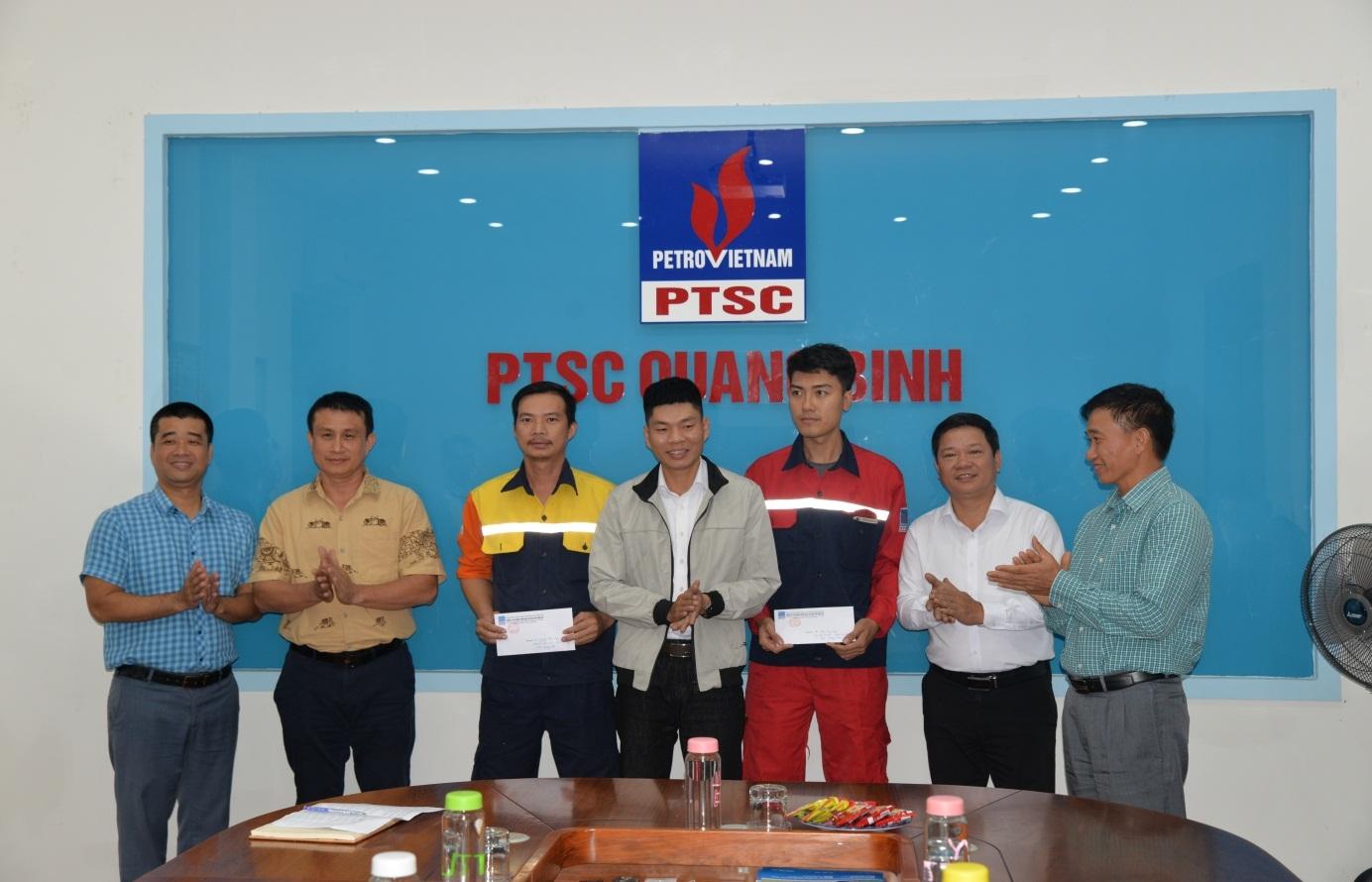 Trao quà hỗ trợ tại PTSC Quảng Bình