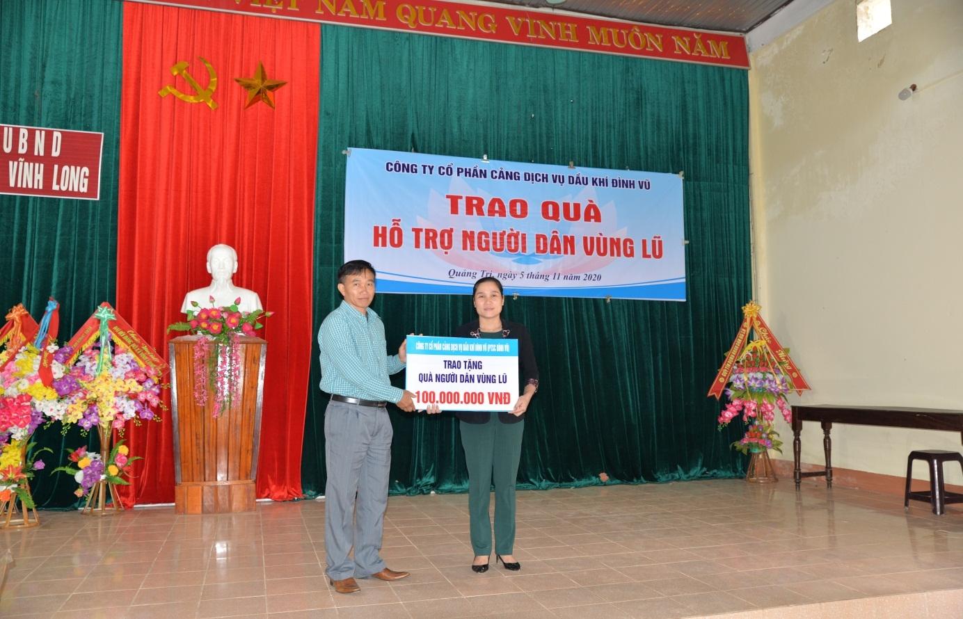 PTSC Đình Vũ trao hỗ trợ tại tỉnh Quảng Trị
