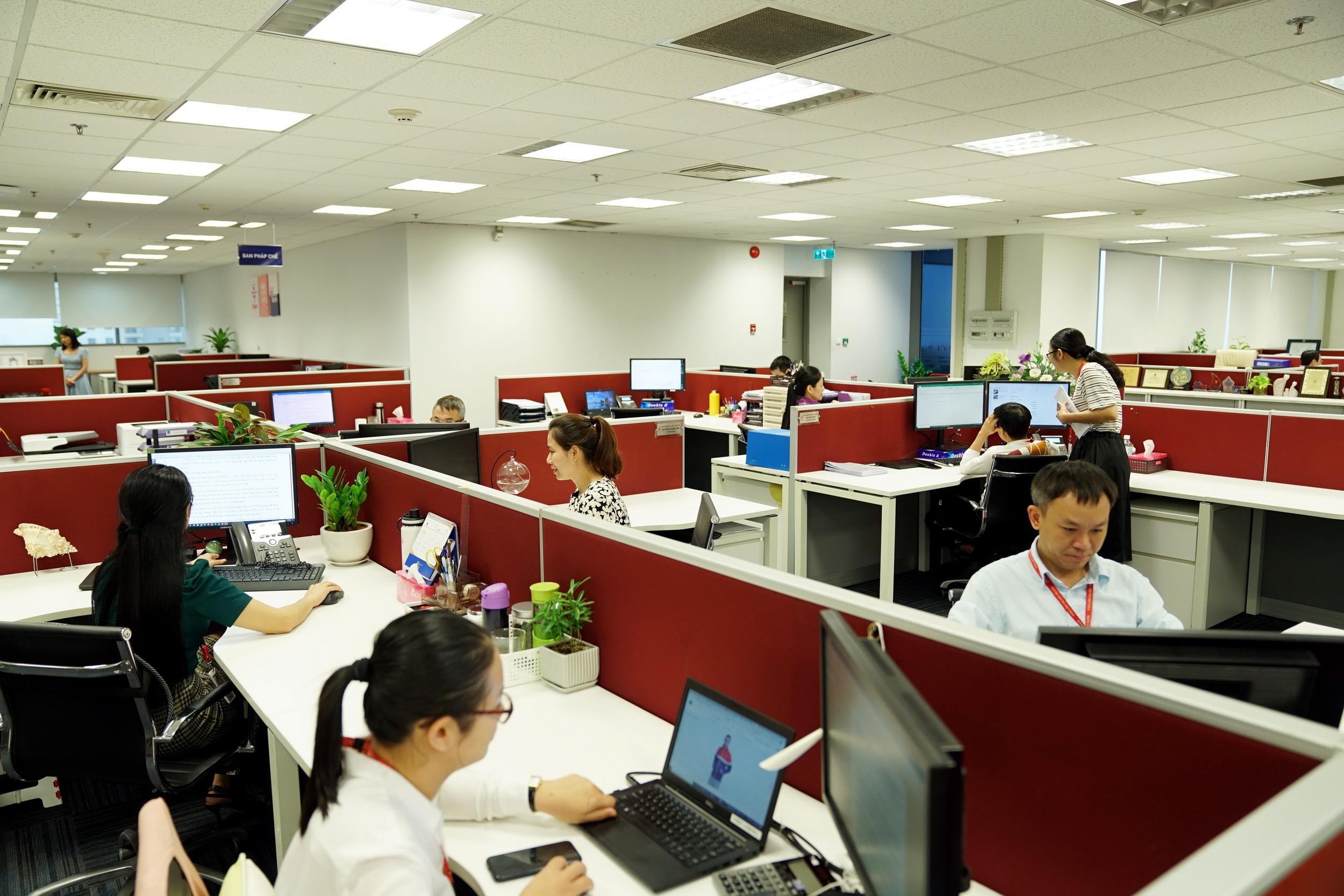Quang cảnh văn phòng làm việc của CQĐH PV GAS