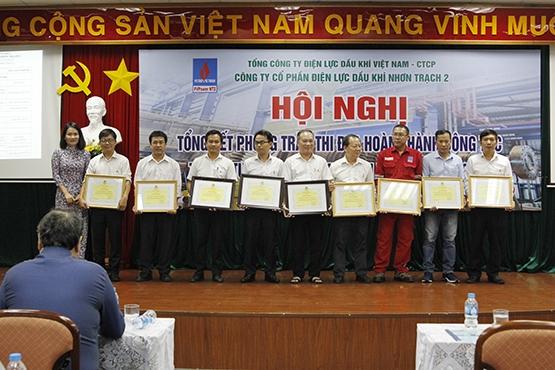 Công tác khen thưởng trung tu nhà máy điện Nhơn Trạch 2