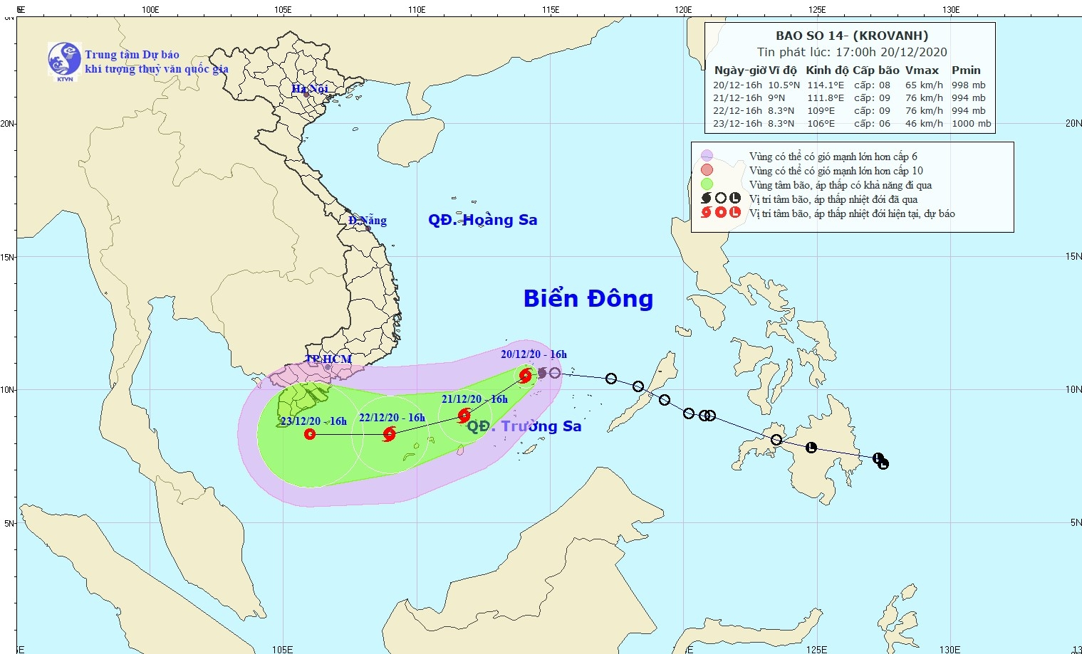 cơn bão số 14 sẽ gây ảnh hưởng đến vùng biển khu vực mỏ Bạch Hổ, Thiên Ưng, Rồng.