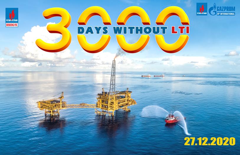 BIENDONG POC đạt thành tích 3.000 ngày vận hành an toàn, không có tai nạn sự cố gây mất giờ công lao động