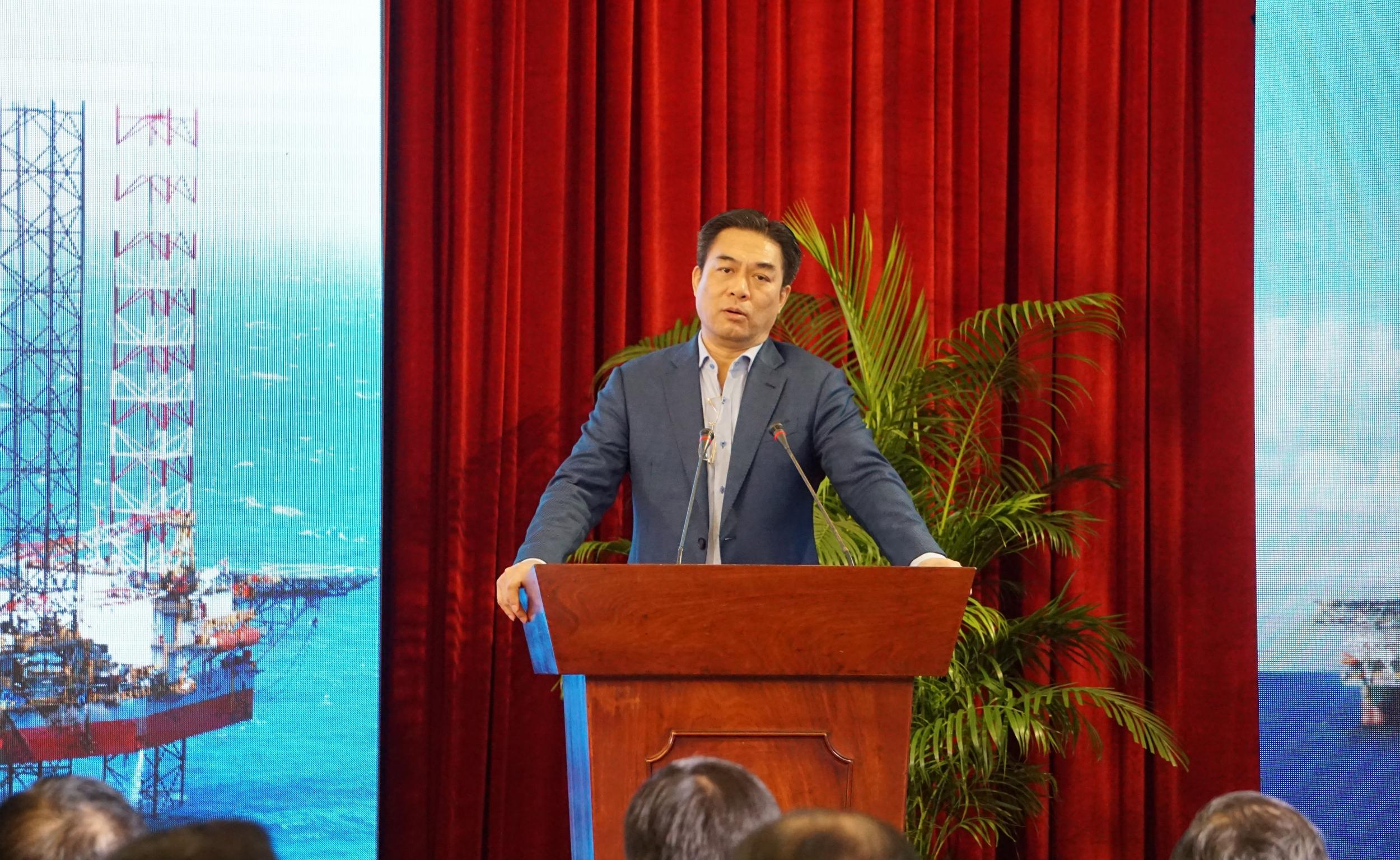Đồng chí Phạm Tiến Dũng - Phó Tổng giám đốc Tập đoàn, Chủ tịch HĐQT PV Drilling phát biểu