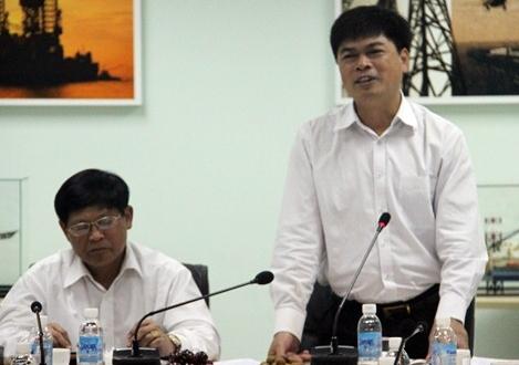 Lãnh đạo Ban Kinh tế T.Ư và Petrovietnam làm việc tại giàn Đại Hùng, PV Shipyard