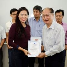 Hội Dầu khí Việt Nam trao chứng chỉ đào tạo học viên Vietsovpetro