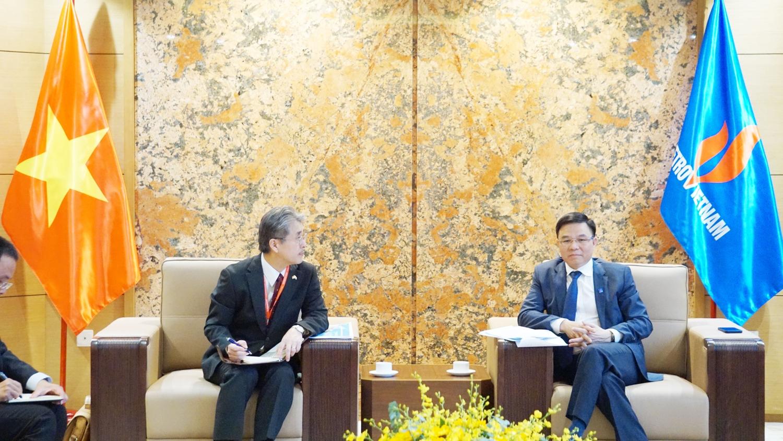 Tổng Giám đốc Petrovietnam Lê Mạnh Hùng tiếp Tổng Giám đốc Công ty Dầu khí Nhật - Việt (JVPC)