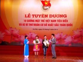 """Tôn vinh các """"Gương mặt trẻ Việt Nam tiêu biểu"""""""
