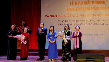 Tôn vinh tập thể, cá nhân đạt giải thưởng Kovalevskaia 2018